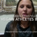 Leigh Chantelle VegFestUK Skype presentation on Vegan Athletes Book etc