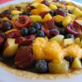 choc pie with fruit