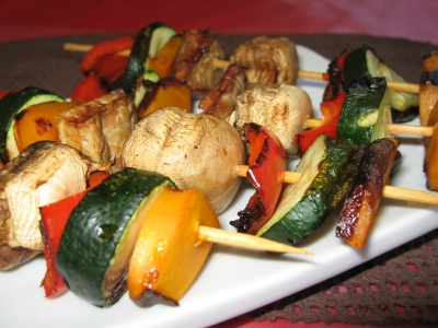 Tempeh Vegetable Kebabs
