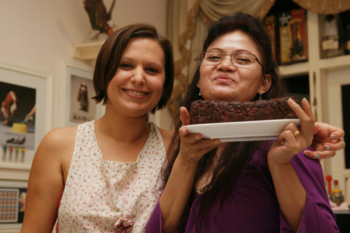 LC__Ning_with_raspberry_truffle_brownie