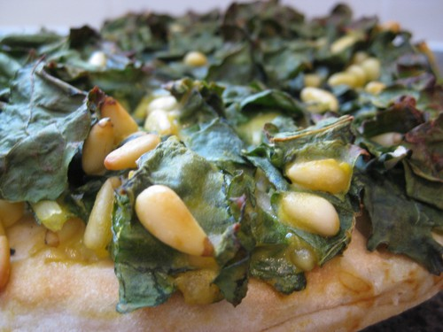 Spinach__Pine_Nuts_pizza_cooked