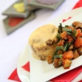 polenta cakes with vegetables