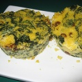 Spinach and Polenta Cakes