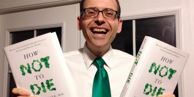 Michael Greger with books
