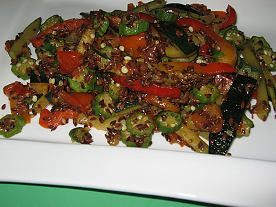 Stir Fry with Linseeds