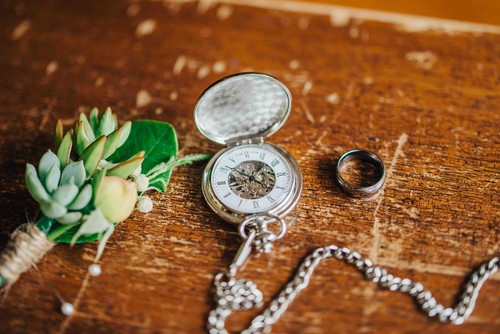 Adrians_Buttonhole_Wedding_Ring_and_Engraved_Pocket_Watch